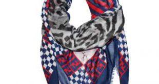 روسری نخی طرح فندی