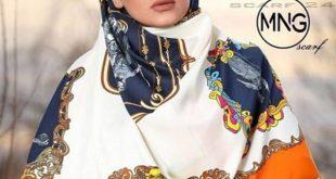 روسری ابریشم کجراه توییل