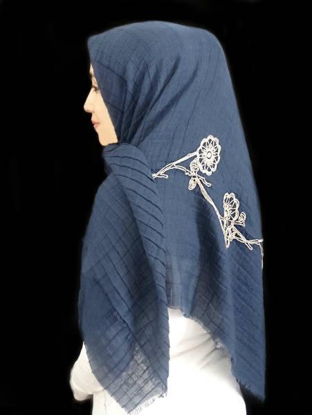 روسری نخی خامه دوزی