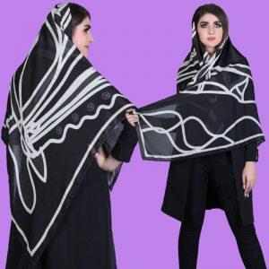 روسری ابریشم مشکی