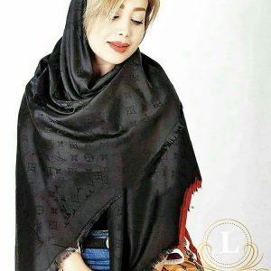 روسری ژاکارد مشکی