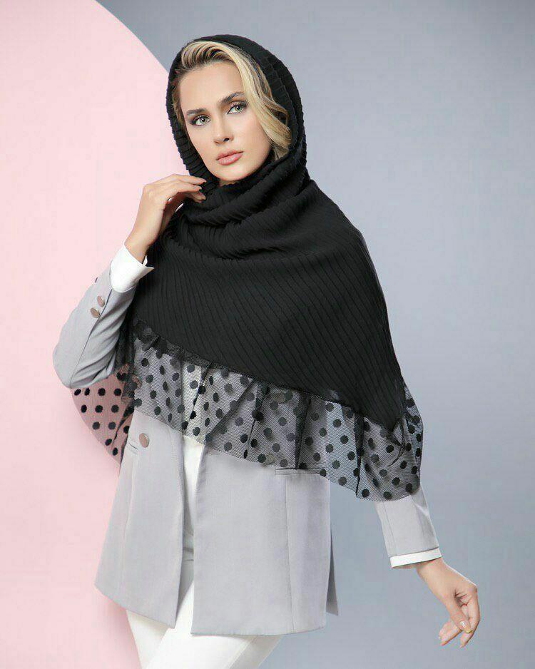 روسری مجلسی مشکی