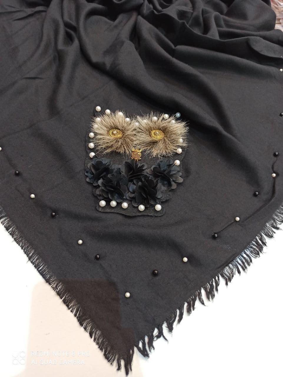 روسری مشکی قواره بزرگ
