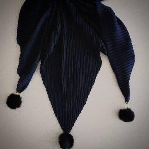 روسری پلیسه مشکی